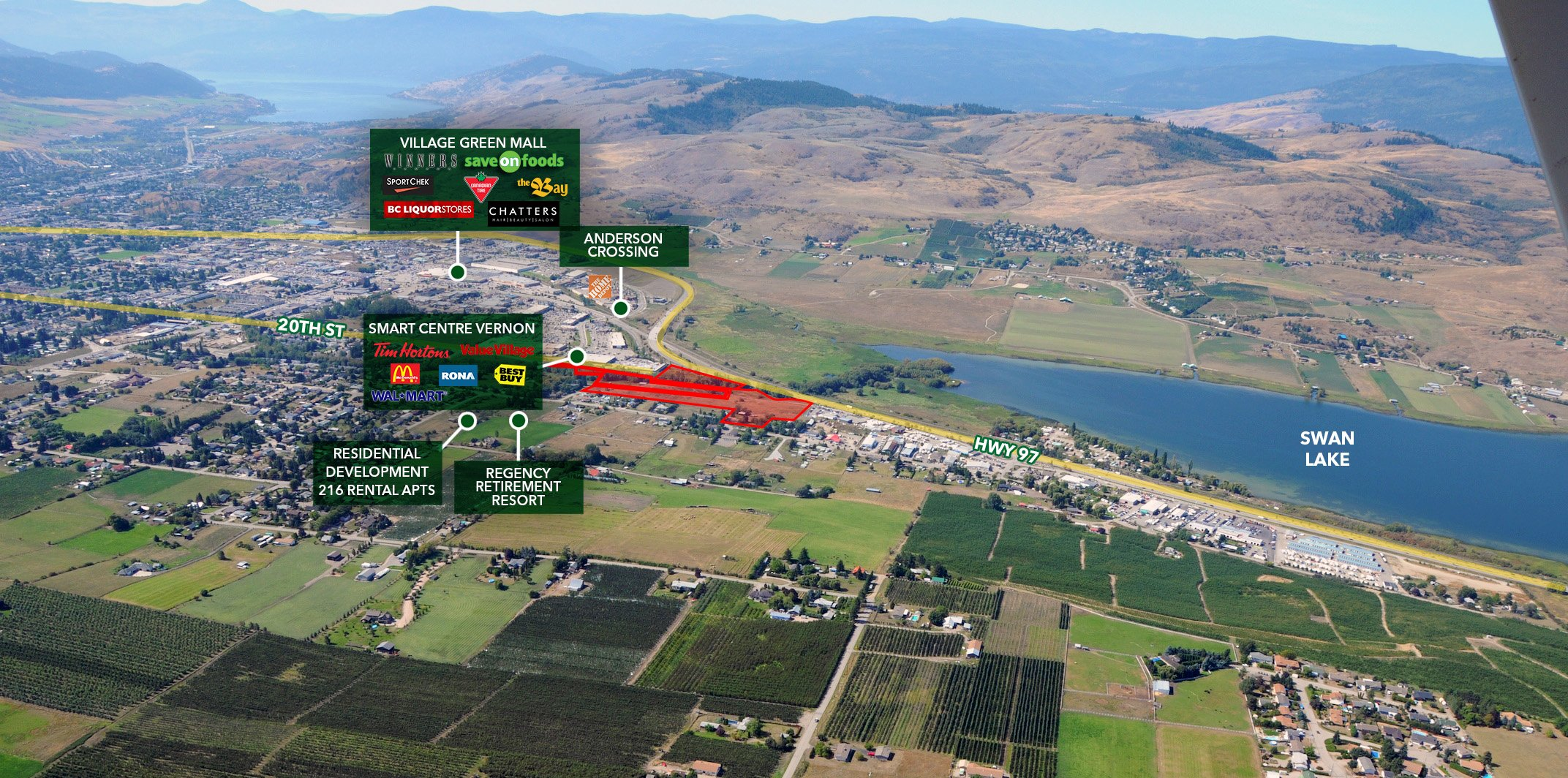 6141 Highway 97 & 5975 LeFoy Road, Vernon, BC - Development Land in Vernon's North End