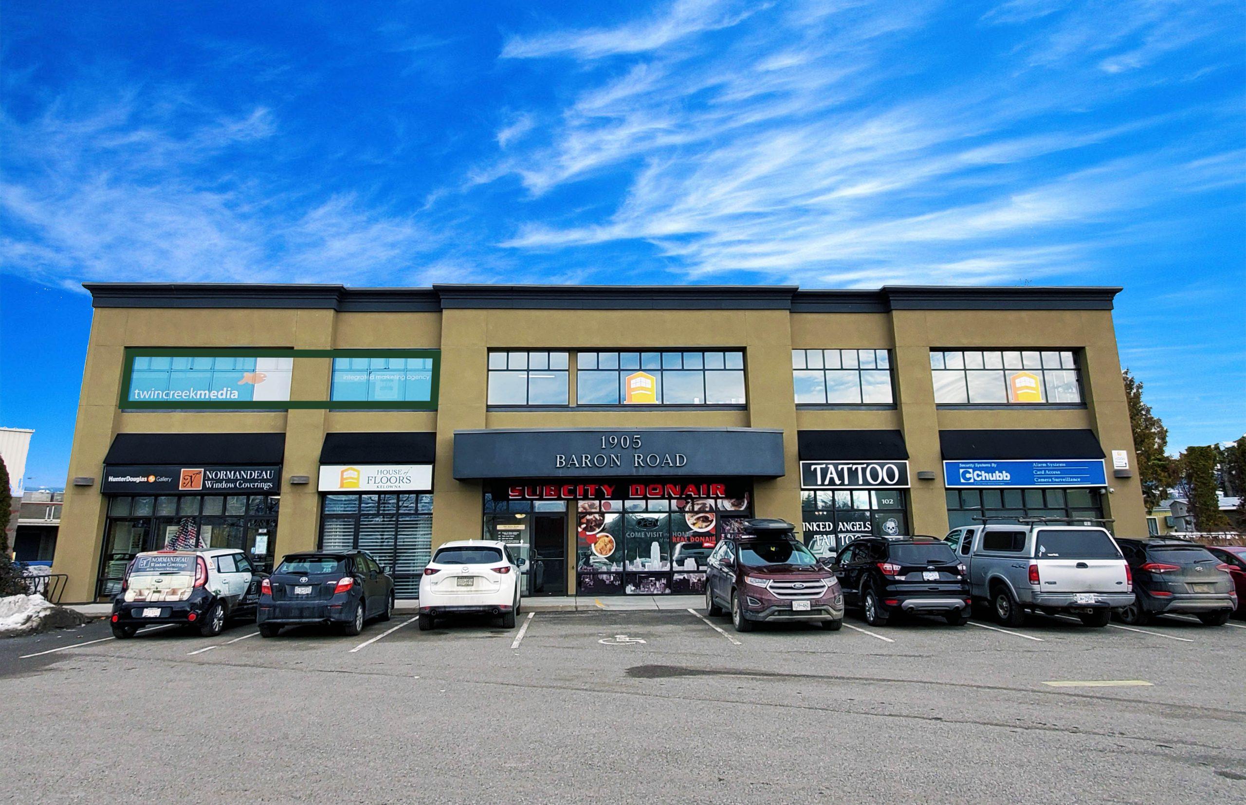 #202-1905 Baron Road, Kelowna, BC - High Exposure Office Space in Central Kelowna