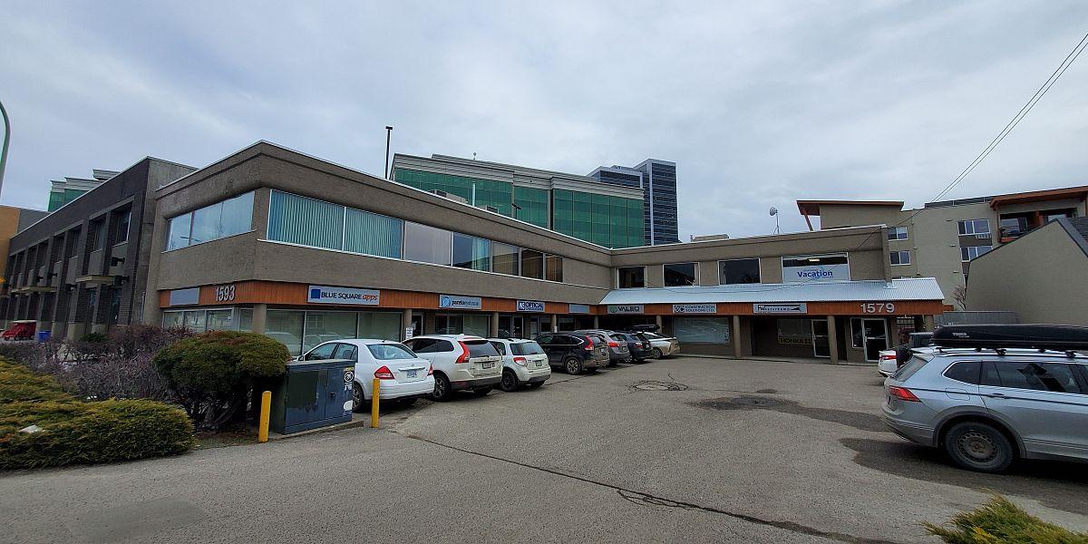 #105-1591 Sutherland Ave, Kelowna, BC - Main Floor Office Space in Central Kelowna