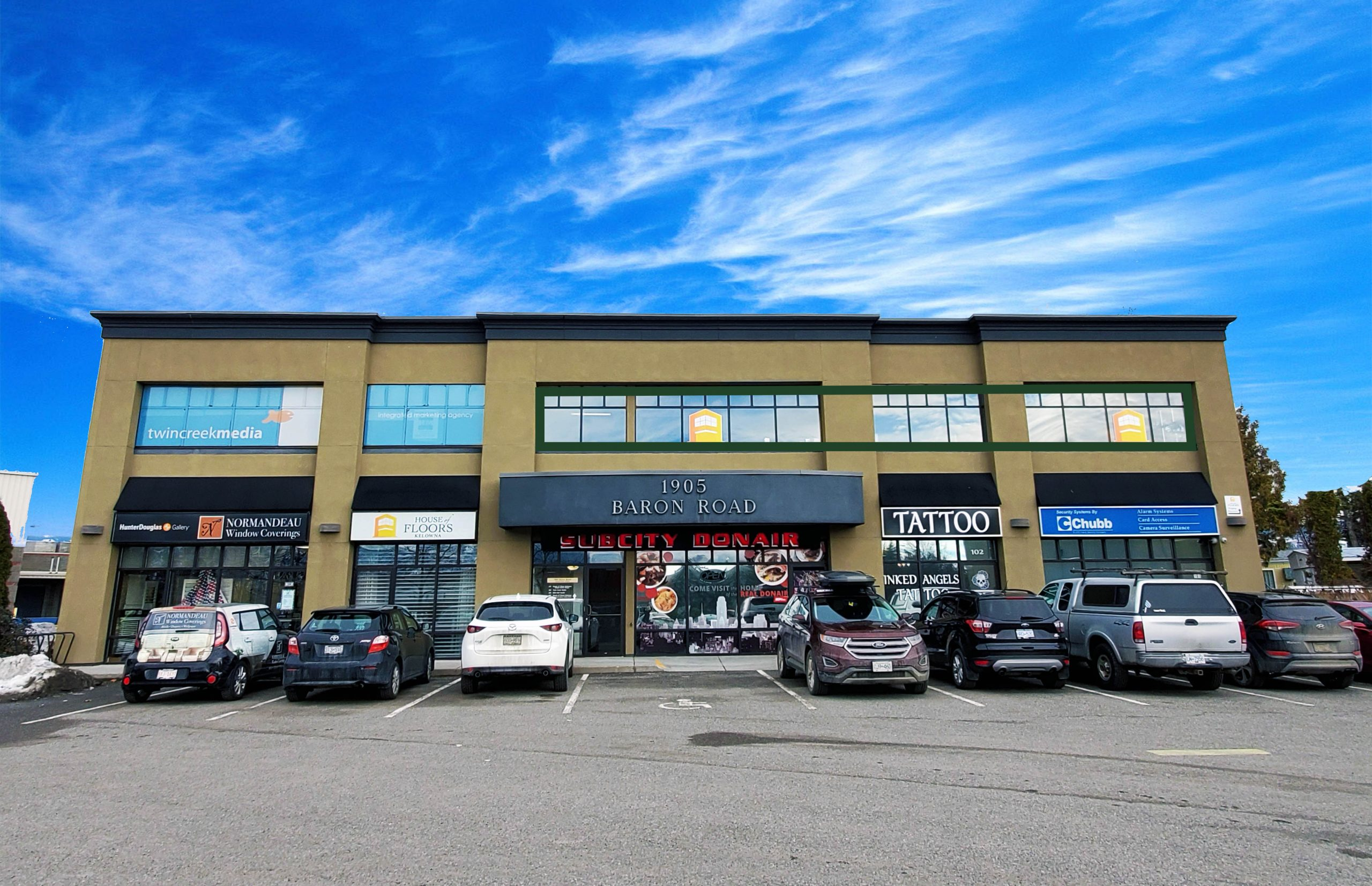 #201-1905 Baron Road, Kelowna, BC - High Visibility Office Space in Central Kelowna
