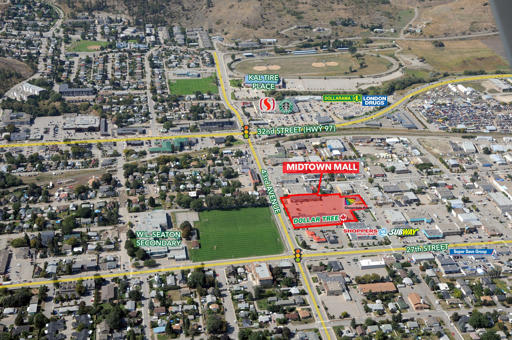 2707 43rd Avenue, Vernon, BC - Midtown Mall Build to Suit Opportunities