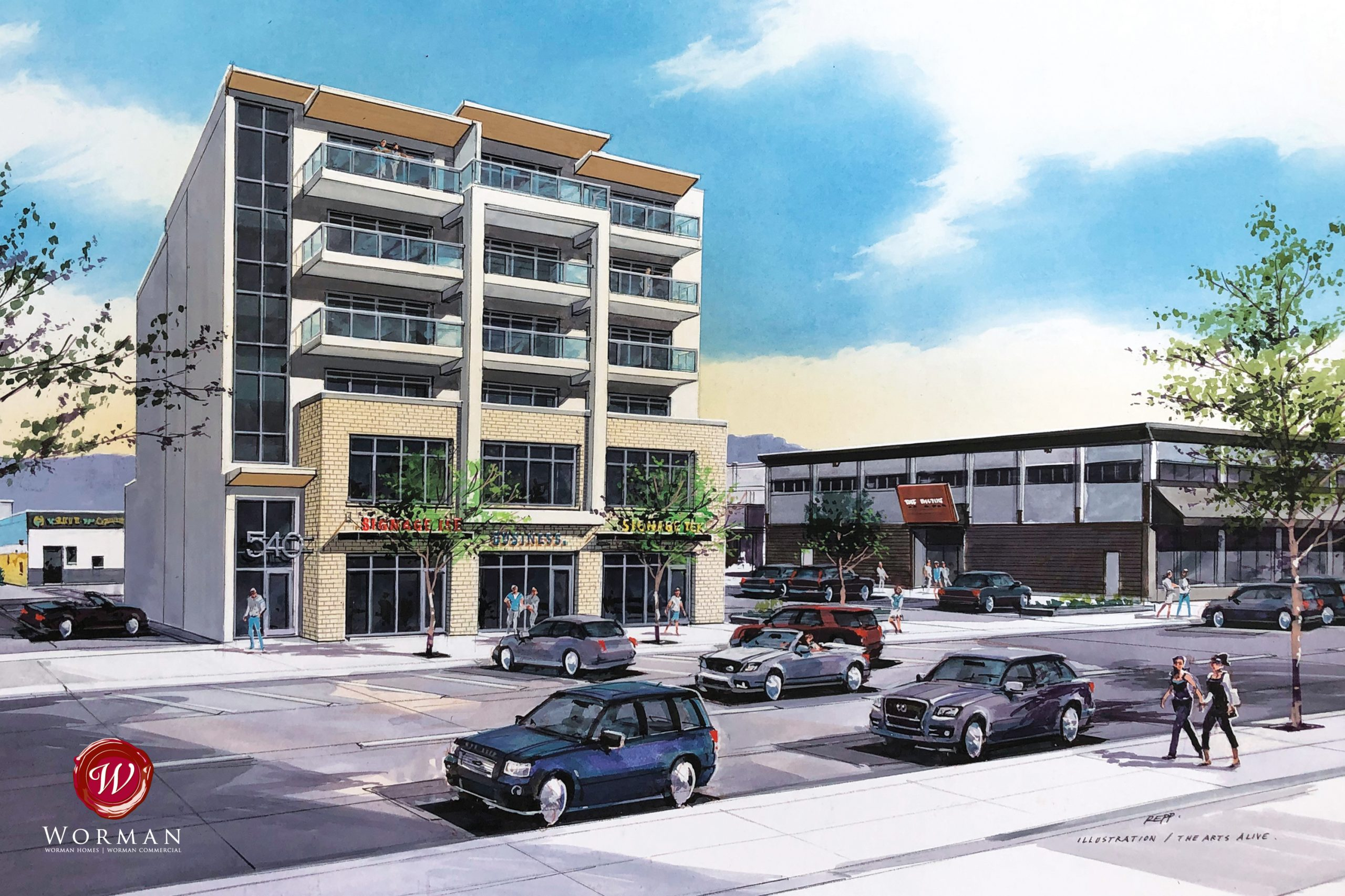 540 Lawrence Avenue, Kelowna, BC - Leasing Opportunities in New Downtown Kelowna Mixed-Use Development