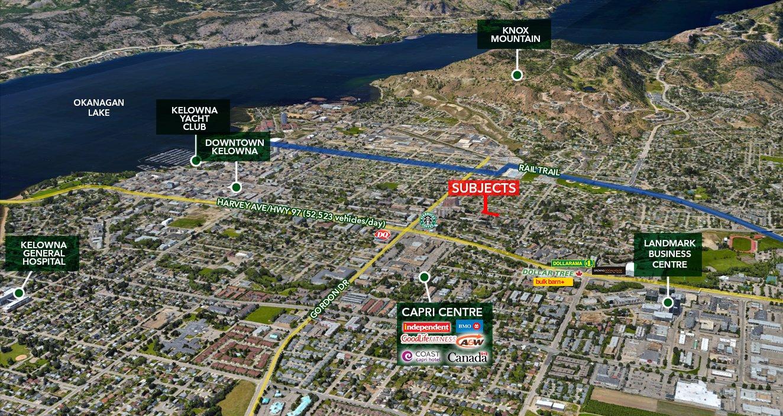 1491 -1495 Danjou Street & 1230-1250 Bernard Avenue, Kelowna, BC - Multi-Family Land Assembly in Kelowna