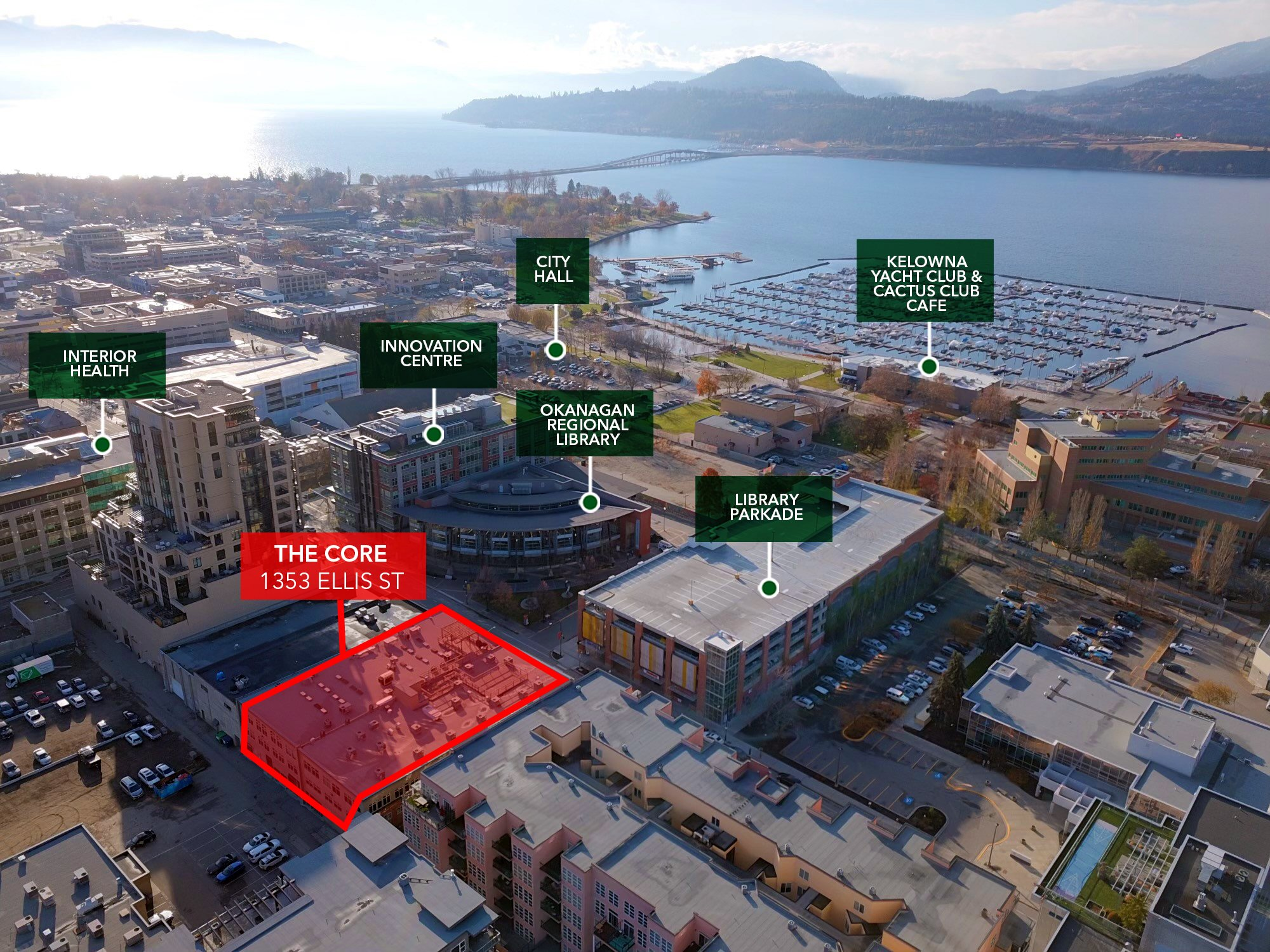 #103-1353 Ellis Street, Kelowna, BC - Downtown Retail/Office Space at The Core Building