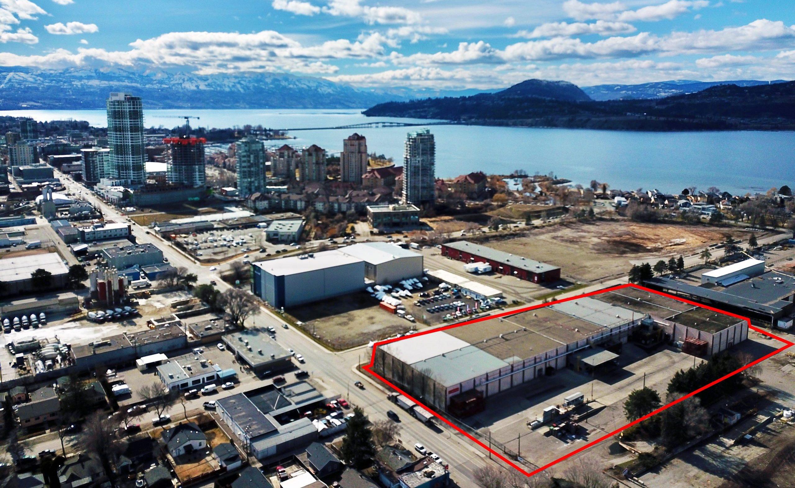 858 Ellis Street & 399 Bay Avenue, Kelowna, BC - Downtown Kelowna Industrial Property with Redevelopment Potential