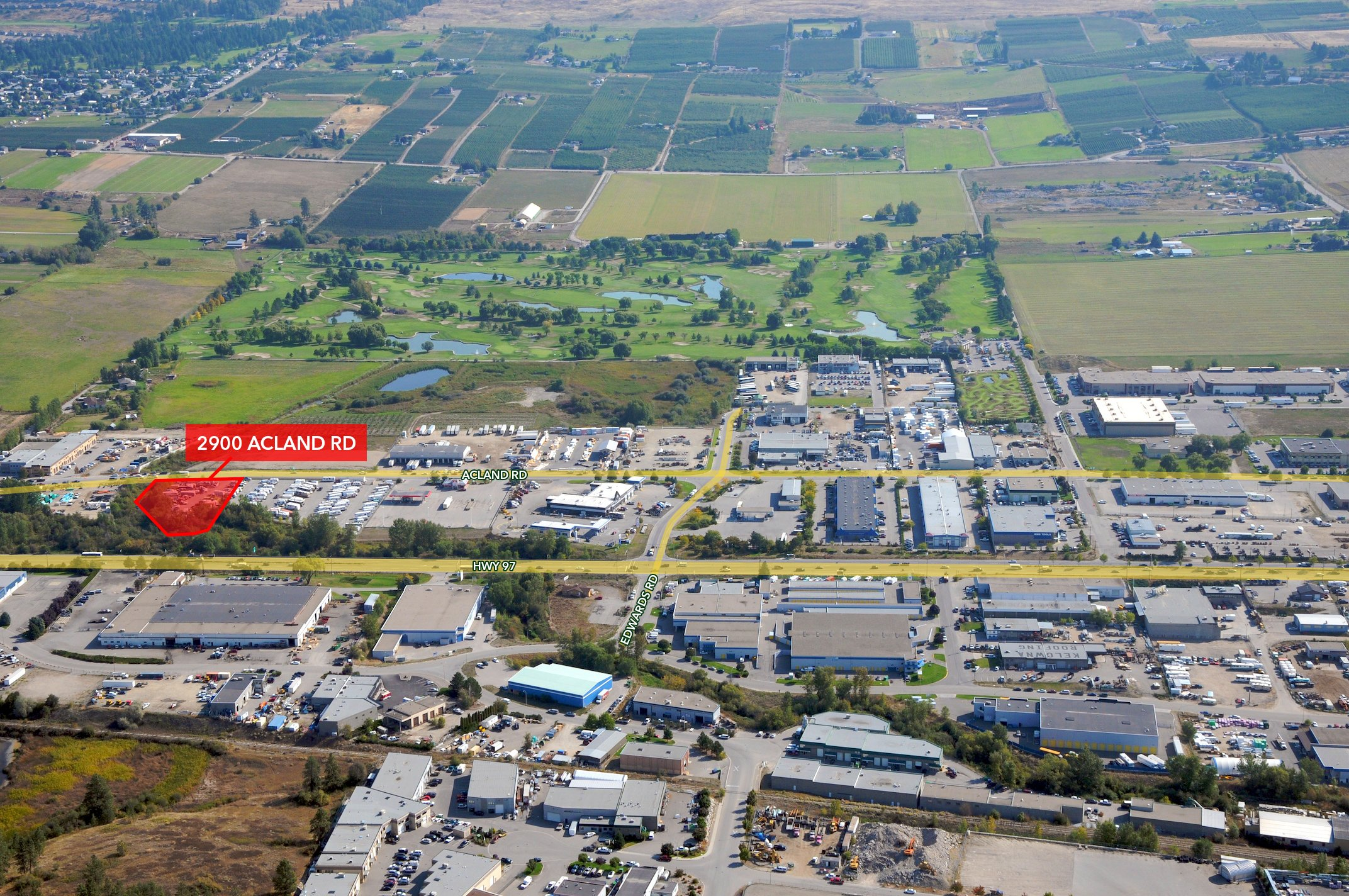 2900 Acland Road, Kelowna, BC - Industrial Site in Reid's Corner w/ Holding Income